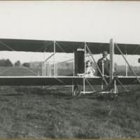 [Orville Wright in Wright Model E]
