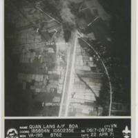 [Aerial view of Quang Lang Air Base, Vietnam]