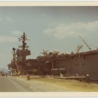 [USS <em>Kitty Hawk</em> docked]