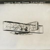 [Wilbur Wright piloting Wright Type A]