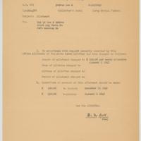 [Memorandum regarding change of allotment amounts for Lee Embree, circa 1943]