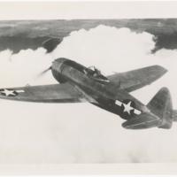 [Republic XP-47N Thunderbolt in flight]