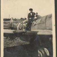 [Leon Swietlikowski with Supermarine Spitfire]