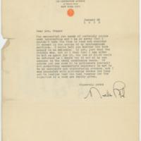 [Letter from Mathilde Weil to Mrs. Draper, January 25, 1933]