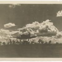 [Douglas C-47 Skytrain landing at airfield]