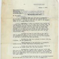 [Letter from Harold E. Hartney to Meriam Cooper, January 4, 1935]