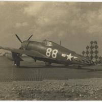 """[""""Big Stud,"""" fighter ace Robert L. Baseler's Republic P-47D (F-47D) Thunderbolt]"""