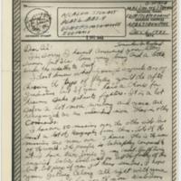 [V-mail letter to Alvin Stewart from fighter ace James C. Stewart, December 6, 1943]