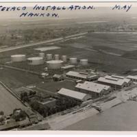 [Aerial view of Texaco facility, Hankou, China]