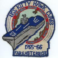 [USS <em>Kitty Hawk</em> cruise patch, 1965-1966]