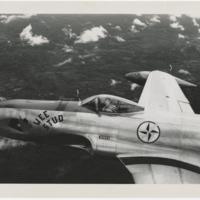 [Robert L. Baseler piloting Lockheed F-80 Shooting Star]