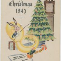 [Christmas menu, 1943]