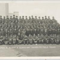 [Squadron R, Flight A, Class 43C at Randolph Field, Texas]