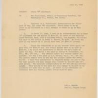 [Memorandum regarding error in allotment deduction, June 12, 1943]