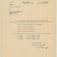 [Memorandum regarding change of allotment amounts for Lee Embree, May 25, 1943]