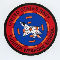 [United States Navy Fighter Weapons School sticker]