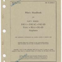 Pilot's handbook for Navy Model F4U-1, F4U-1C, F4U-1D, F3A-1, FG-1, FG-1D airplanes [Manual]