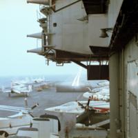 [Military aircraft on USS Kitty Hawk]