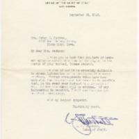 [Thomas Walter Jackson World War II Collection, Box One, Folder 5 - Condolences to Helen Jane Jackson -- correspondence, 1942-1943, 1946]