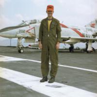 [Bruce Mennella with McDonnell F-4 (F4H) Phantom II]